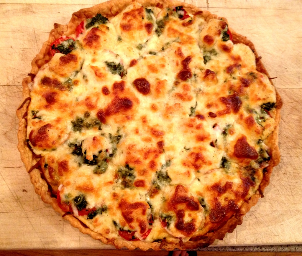 Basil Tomato Tart (from Nancy Myers)